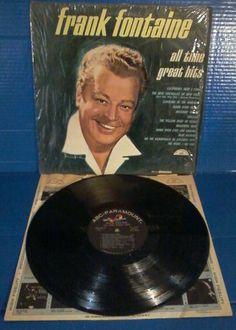 Frank Fontaine All Time Great Hits LP Vinyl Album mono ABC male vocal pop 60s #musicmonday
