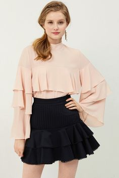 57582a77e15c Patricia Ruffle Blouse Discover the latest fashion trends online at storets .com