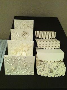 adorable mini cards... but I love the scalloped edge little envelopes!