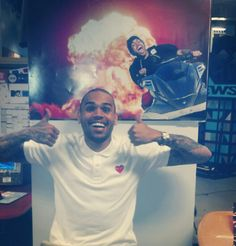 So, um, this happened in the MTV News office yesterday. Heard anything about Chris Brown recently?
