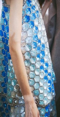Mermaid scales backstage at Maison Martin Margiela Spring/Summer 2014 photographed by Lea Colombo ♥✤ | Keep Smiling | BeStayBeautiful