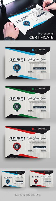 Certificate Template Fully Clean Certificate Paper Size With Bleeds Quick and easy to customize templates Any Size Changes Fully Group Layer Free Fonts Use Fully Vector. Stationery Printing, Stationery Templates, Stationery Design, Print Templates, Typo Design, Typography Design, Print Design, Graphic Design, Certificate Design
