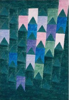 Três bandeirinhas rosas (1974). Alfredo Volpi (1896-1988). têmpera sobre tela. Pinacoteca do Estado de São Paulo, Brasil.