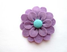 Sale: Felt Flower Brooch