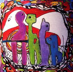 De Oorsprong 2 De kleurrijke mandala (magische cirkel), op mijn manier van meditatief schilderen. Een doekje vanuit de ziel. Een lichtpuntje om te geven, als oppepper, krachtgever, of als teken van vriendschap. Ellen Berens