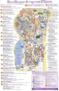 """Cedar Point (Fall) - 2004 LOL the map from with the infamous """"pumpkin"""" haunted house! Theme Park Map, Sandusky Ohio, Cedar Point, Famous Daves, Landscape Designs, Amusement Parks, Home And Away, Roller Coaster, Brochures"""