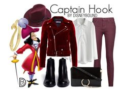 """""""Captain Hook"""" by leslieakay ❤ liked on Polyvore featuring Lucky Brand, Current/Elliott, Chicwish, Ash, Chloé, disney, disneybound and disneycharacter"""
