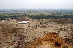 Tucume-a huge complex of pyramids made by the Lambayeque people-view from Purgatory Hill near Chiclayo, Peru
