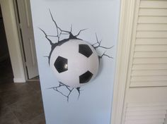 "soccer bedrooms | ... Your Little Soccer Fan the Coolest Room Ever with a 3D Soccer Light -- this could be adapted for any ""theme"""