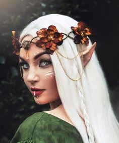 Woodland Elven Crown by Frecklesfairychest on Etsy