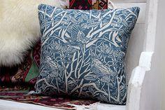 Rodborough Whitebeam Cushion Eclectic Style, Lampshades, Natural Linen, Decorative Throw Pillows, Cushions, Textiles, Live, Pattern, Throw Pillows