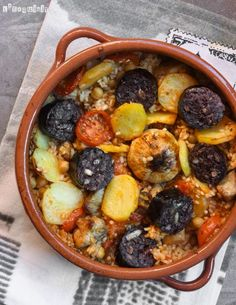 Arroz al horno - L´Exquisit Paella, Spanish Food, Spanish Recipes, Chorizo, Love Food, Rice, Ethnic Recipes, Vestidos, Chickpeas