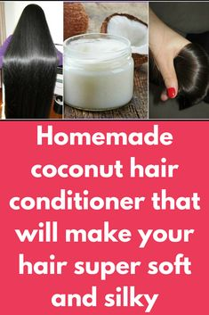 coconut hair conditioner that will make your hair super soft and silky ., Homemade coconut hair conditioner that will make your hair super soft and silky ., Homemade coconut hair conditioner that will make your hair super soft and silky . Homemade Hair Conditioner, Coconut Conditioner, Coconut Milk Shampoo, Homemade Shampoo, Natural Hair Conditioner, Aloe Vera Hair Growth, Aloe Vera For Hair, Trash To Couture, Clean Eating Snacks
