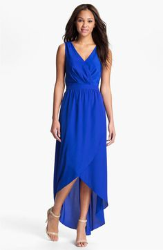 Presley Skye Lace Up High/Low Maxi Dress | Nordstrom ** One of the only cute high-low dresses I've seen