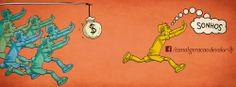 Quem trabalha somente com o seu foco em ganhar dinheiro geralmente não vai muito longe, mas pra quem tem um propósito bem definido, dinheiro não é um fim; é apenas um meio e acaba sendo conquistado como uma mera consequência de um trabalho produtivo e bem feito.
