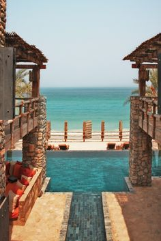 Private Retreat Pool at Six Senses Zighy Bay, Oman. www.sixsenses.com