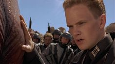 'RiffTrax Live: Starship Troopers': A hilarious riff on a campy, sci-fi war film Casper Van Dien, Dina Meyer, Count Olaf, Current Movies, The Stranger Movie, Starship Troopers, Neil Patrick Harris, War Film, Denise Richards