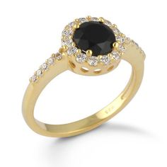 Gold Vermeil Solid 925 Fine Sterling Silver Jewelry Black Onyx Stone Ring SZ 7 #Rinnga