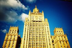 Ministry of Foreign Affairs ... huuuuge building  #Lomography