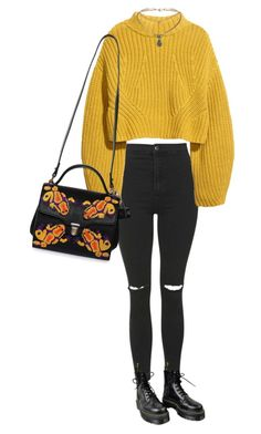 """Untitled #318"" by kaylastar221 on Polyvore featuring Topshop, Dr. Martens and H&M"