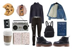 """""""Untitled #10"""" by margarets-style ❤ liked on Polyvore featuring Boohoo, Sanyo and CASSETTE"""