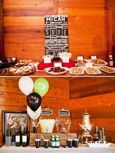 Rustic-Chic Rugby 1st Birthday Party. The favors are so cute!