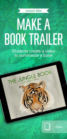 """In """"Sneak Peek,"""" students analyze literature and visually demonstrate their comprehension of details. Using the Stop Motion Studio app, they create a book trailer promoting its imagery, symbolism, or theme. For more lesson ideas, use this free book: http://apple.co/BookTrailer"""