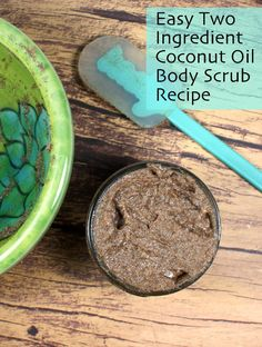 This two-ingredient easy coconut oil body scrub recipe is made without salt or sugar and is perfect for exfoliating and moisturizing dry skin. Make some now to get your skin ready to show off for spring!