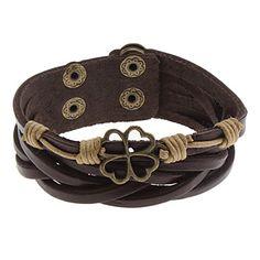 Hollow Flower Leather Bracelet – EUR € 4.41