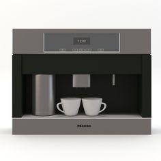 miele cva builtin coffee machine 3d model