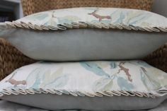 Knife pleating detail on pillows.