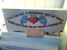 In loving memory board