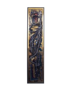 Mixed metal wall panel by Berhard Rohne. $2400