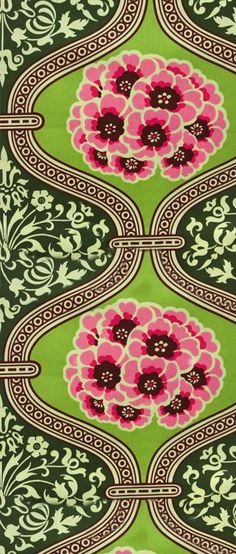 floral and green pattern
