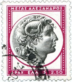 GREECE - CIRCA Postage stamps printed in Greece, shows the Head of Alexander the Great, circa 1958 — Stock Image Vintage Ads, Vintage Posters, Greek Royalty, Going Postal, Stamp Printing, The Son Of Man, Alexander The Great, Stamp Collecting, My Stamp