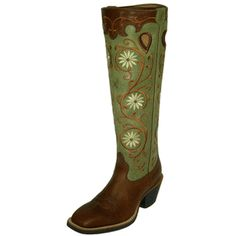 London Tan and Olive Buckaroo Boots by Twisted X