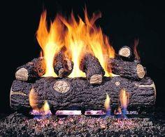 Real Fyre Golden Oak Designer Plus Vented Gas Logs