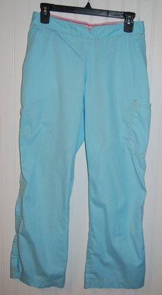 Koi Kathy Peterson Women's Petite Medium Marissa Scrub Pants Light Blue 700P #Koi