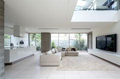 開放的なリビングキッチン White Interior, Minimalist Home, Home Themes, House Design, Luxury House, Living Room Designs, Modern Style House Plans, Interior Design, Salas Living Room