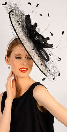 Black fascinators, hatinators, fashion hats, shop by colour Black And White Fascinators, Black Fascinator, Melbourne Cup Fashion, Wedding Fascinators, Wedding Cups, Races Fashion, Summer Hats, Shopping, Color