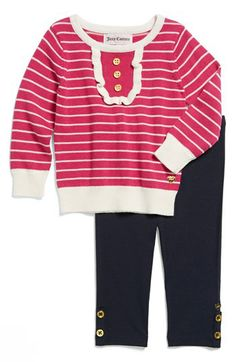 Juicy Couture Sweater & Leggings (Baby Girls) available at #Nordstrom