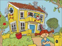 Love this Pippi picture Pippi Longstocking, Children's Book Illustration, Pepsi, Diy For Kids, Paper Dolls, Girl Birthday, Childrens Books, Old School, Pop Art