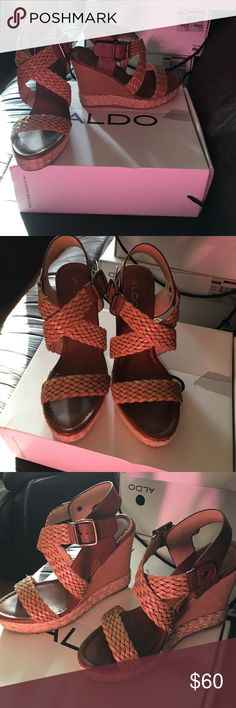 Aldo Lappas wedges sz 7.5 In excellent condition. Worn once. ALDO Shoes Wedges