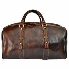 Cesare Italian Leather Weekend Bag