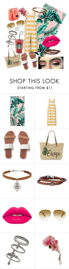 """""""Beach day"""" by whodatgirl ❤ liked on Polyvore featuring PBteen, Mara Hoffman, Aéropostale, DUBARRY, Straw Studios, Miss Selfridge, Phillip Gavriel, Lime Crime, Victoria Beckham and Accessorize"""