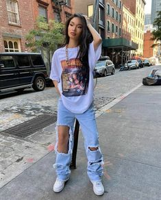 Tomboy Outfits, Cute Swag Outfits, Tomboy Fashion, Teen Fashion Outfits, Mode Outfits, Retro Outfits, Streetwear Fashion, Stylish Outfits, 90s Fashion