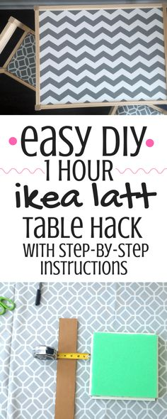 This IKEA Latt Table Hack can be done in about an hour or less! Upgrade your toddler's play table with this super easy & stylish hack. Fun Crafts For Kids, Easy Diy Crafts, Toddler Crafts, Easy Diy Projects, Toddler Furniture, Diy Furniture, Lounge Furniture, Homemade Furniture, Modern Furniture