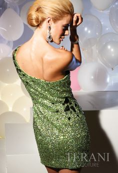 Terani Couture 2012 Green Short Prom Dress 751