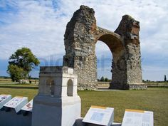 Stock photo ✓ 17 M images ✓ High quality images for web & print | Heidentor the ancient Roman settlement in Austria Carnuntum