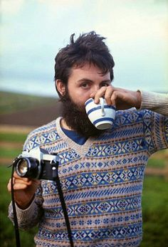 Best pic of beardy Paul McCartney in the English Countryside